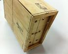 1/2 Bushel Wirebound Wooden Crate