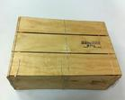 1/2 Bushel Wirebound Wooden Crate 6 1/4 x 12 1/4 x 16 3/4 inches
